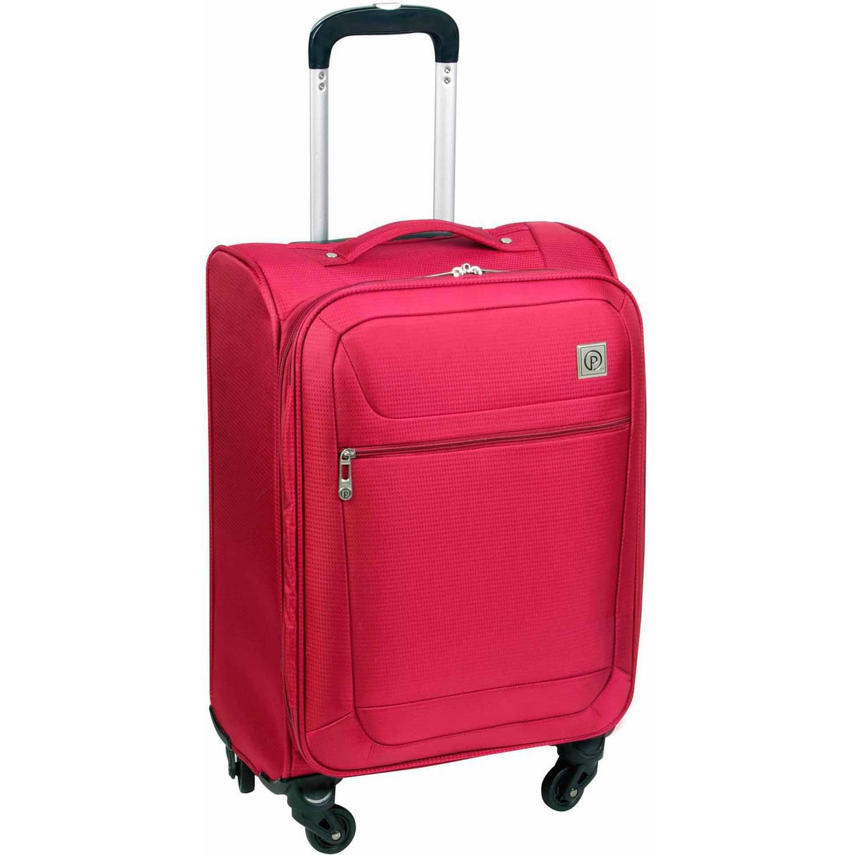 Protege Vapor Lightweight Rolling Suitcase, Red - Walmart.com