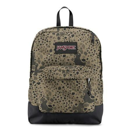 JanSport Black Label Superbreak Backpack - School Bag Stony Camo Print