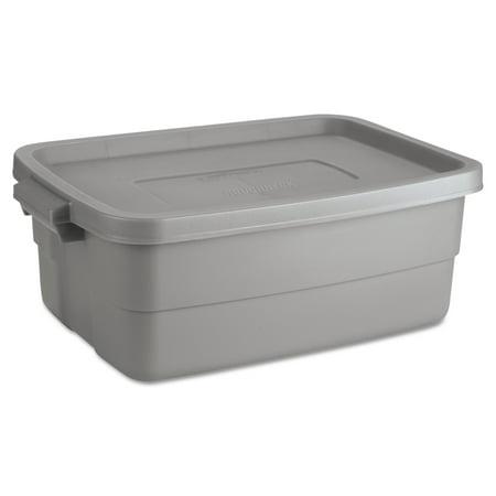 Rubbermaid Roughneck Storage Box  10 Gal  Steel Gray