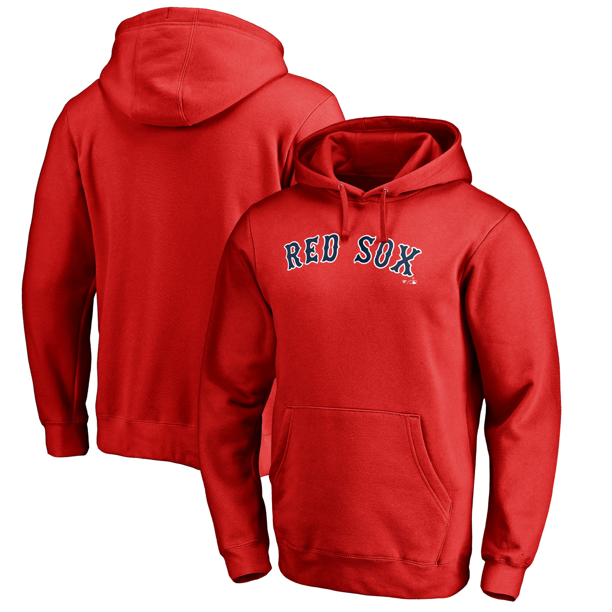 Boston Red Sox Fanatics Branded Team Wordmark Pullover Hoodie - Red