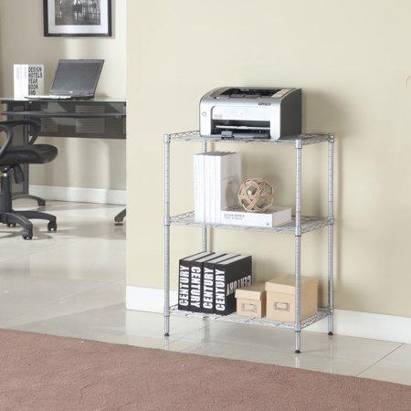 UBesGoo 3 Tier Wire Shelving Rack Shelf Adjustable Unit Garage Storage Organizer Home