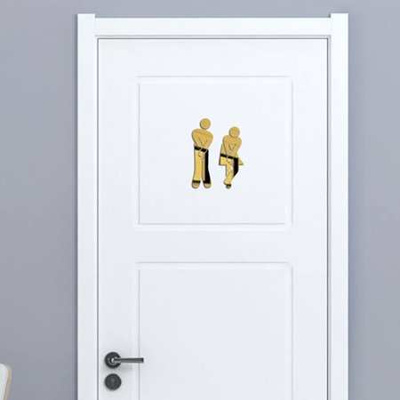 Toilet Room Sign Decorative Bathroom Sign For Hotel Bar Restaurant Mirror