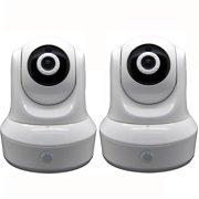 COOLCAM 1080P(1920TVL) Wireless Pan Tilt WiFi Camera, 2 Way Audio, 2 Pack