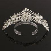 Wedding Bride Hairband Headpiece Rhinestone Crystal Flower Hair Clip Comb for Women