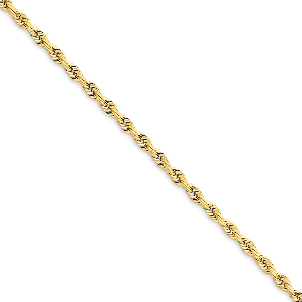 ICE CARATS 14kt Yellow Gold 2.75mm Quadruple Link Rope Bracelet Chain 7 Inch Fine Jewelry Ideal Gifts For Women Gift Set From Heart