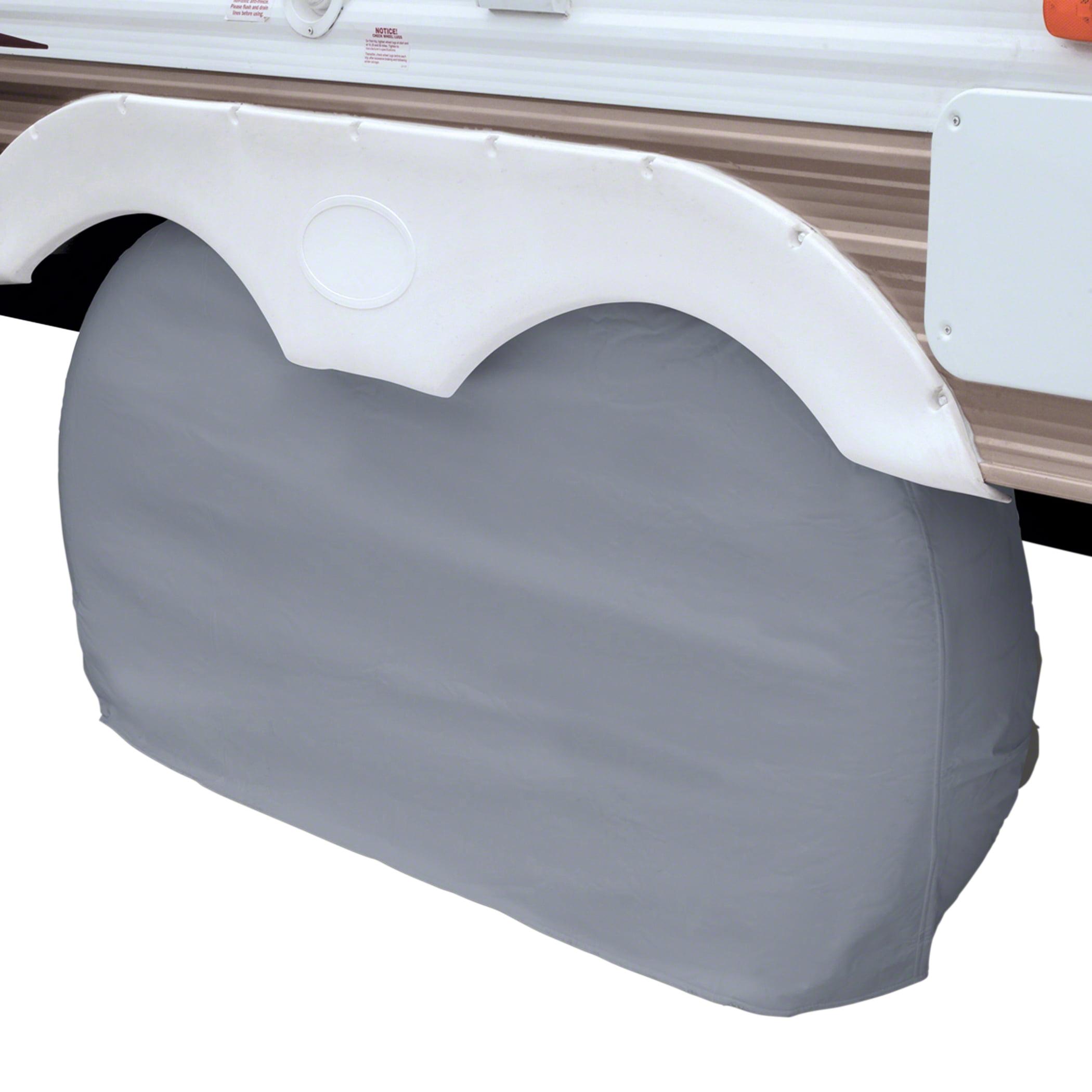 "Classic Accessories OverDrive Dual Axle Wheel RV Cover, Fits 30"" - 33"" Wheel Diameter, Grey"