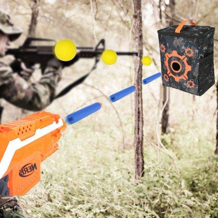 WALFRONT Portable Purpose Target Pouch Storage Carry Equipment Bag for Nerf Guns Darts N-strike Elite, - image 1 de 7