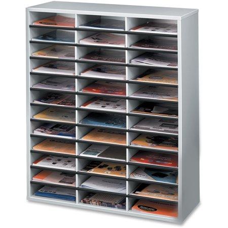 Fellowes, FEL25061, Literature Organizer - 36 Compartment Sorter, Dove Gray, 1 Each, Dove
