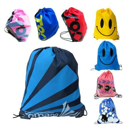 Drawstring Hobo Bag - Swimming Drawstring Beach Bag Sport Gym Waterproof Backpack Swim Dance Fish Pink Fish Pink