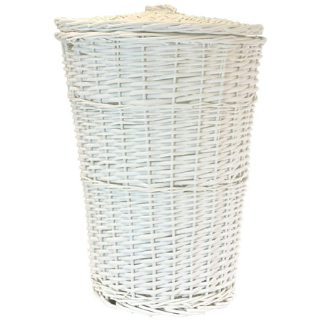 Round Willow Hamper with Matching Lid ()