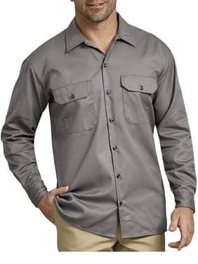 Dickies Big Men's Long Sleeve Twill Work Shirt