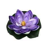 Water Lily Artificial Flowers PE Fake Flower Real Touch Home Wedding Decorative Simulation Flowers