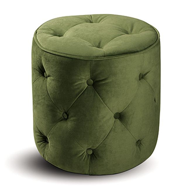 Avenue Six 140023 Curves Tufted Round Ottoman in Spring Green
