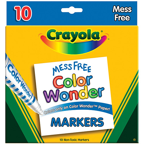 Crayola Color Wonder Broad Line Markers 10-Pack, Assorted Colors