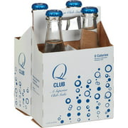 Q Club Club Soda, 32 fl oz, (Pack of 6)