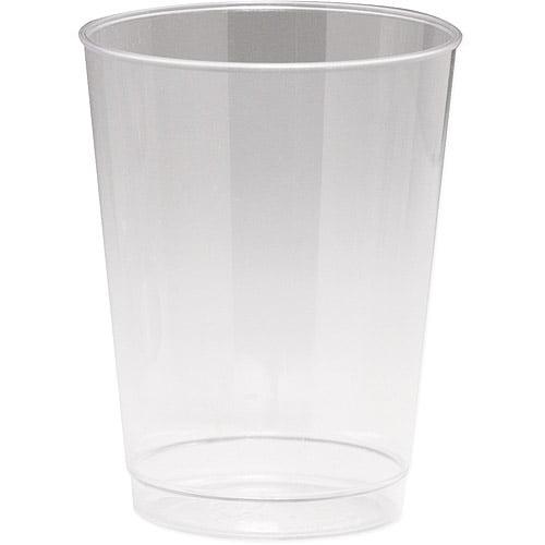 10-Oz. Plastic Tumblers - 8-Pack, Clear