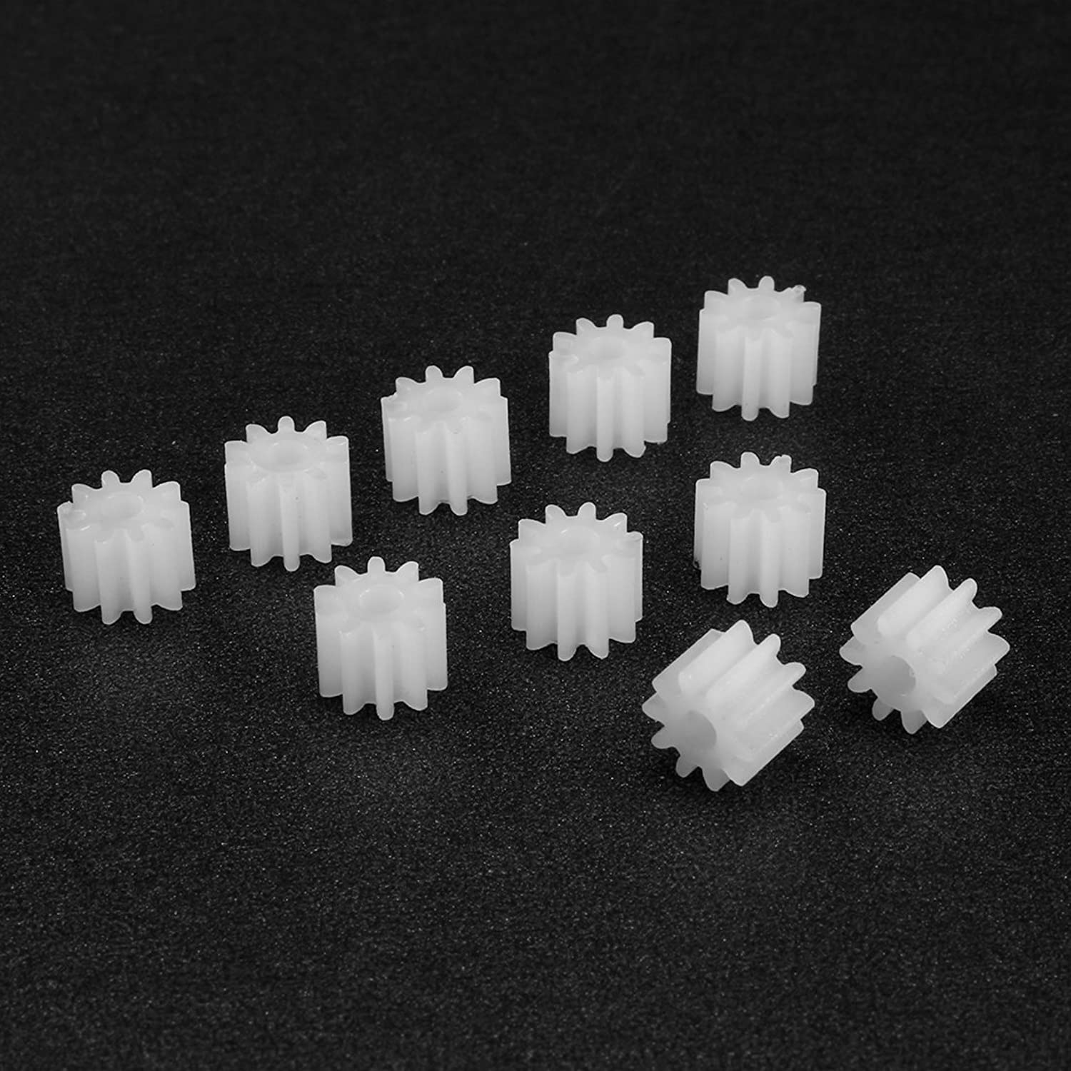 uxcell 10pcs Plastic Gears 8 Teeth Model 082A Reduction Gear Plastic Worm Gears for RC Car Robot Motor
