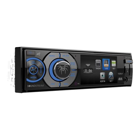 """Soundstream VR-345B 3.4"""" Single-DIN In-Dash DVD Receiver with Bluetooth"""