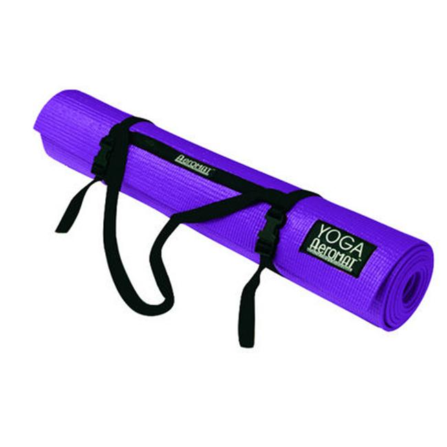 AGM Group 72302 72 in. Elite Yoga-Pilates with Strap - Pastel Purple