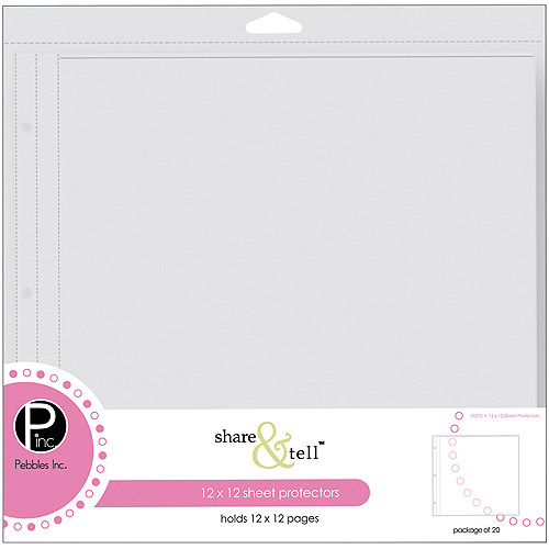 """Pebbles Inc Share & Tell Page Protectors, 12"""" x 12"""", 20/Pkg"""