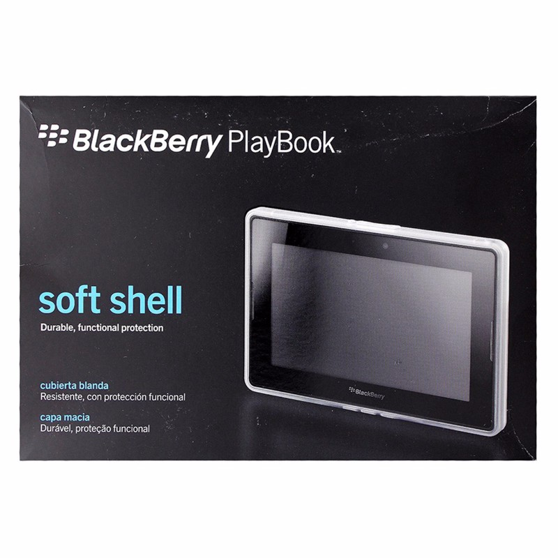 BlackBerry Soft Shell Case for BlackBerry PlayBook - White / Clear