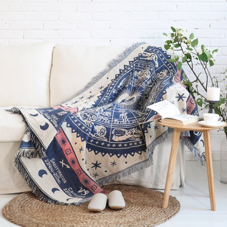 Multi-sized 100% Cotton Soft Sofa Chair Bed Chair Covers Blanket Throw Winter Warm Blanket Home Decor