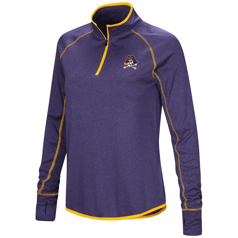 Womens ECU East Carolina Pirates Quarter Zip Long Sleeve Shirt - XL