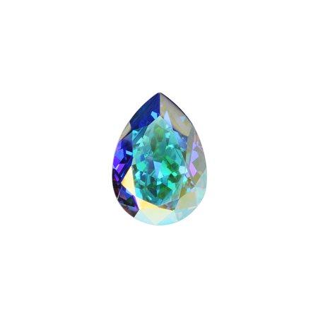 Swarovski Crystal, #4320 Pear Fancy Stones 8x6mm, 2 Pieces, Crystal AB F (8x6mm Stone)