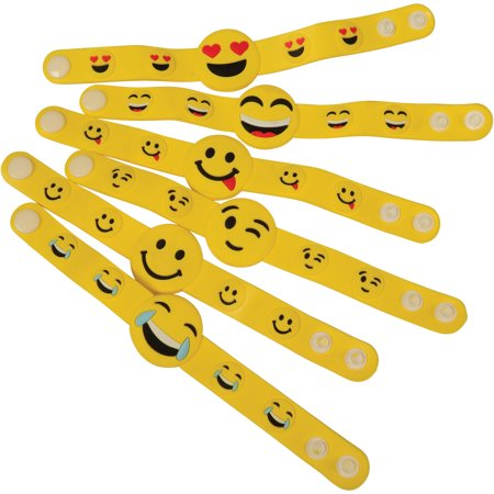 Plastic Snap Emoji Bracelets Easter Egg Filler 8.25
