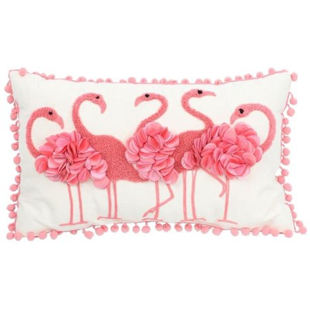 - DEI Flamingo Accent Pillow