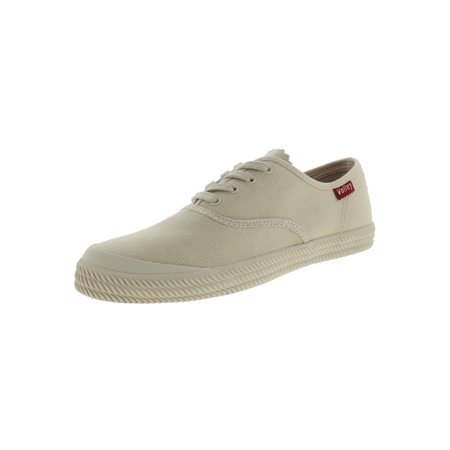 - Volley Womens O.C. Canvas Contrast Trim Fashion Sneakers Ivory 8 Medium (B,M)