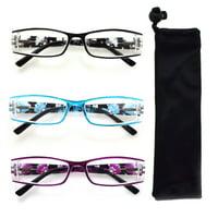 Multi Floral Color Reading Glasses R213-SET OF 3+1.75