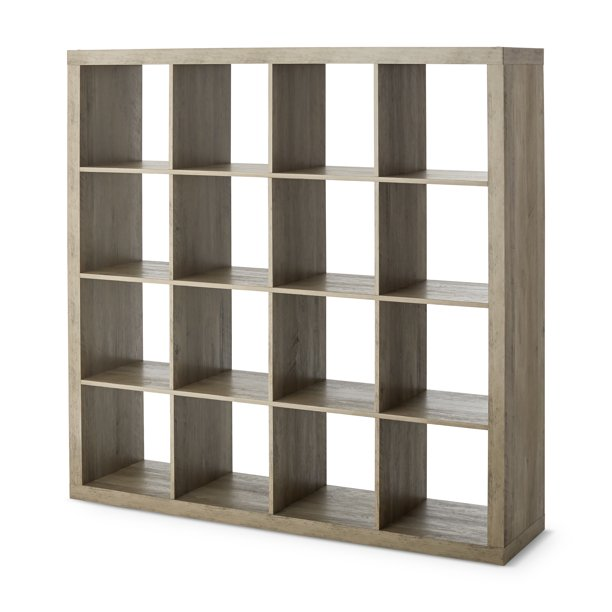 Better Homes & Gardens 16-Cube Storage Organizer, Rustic Gray