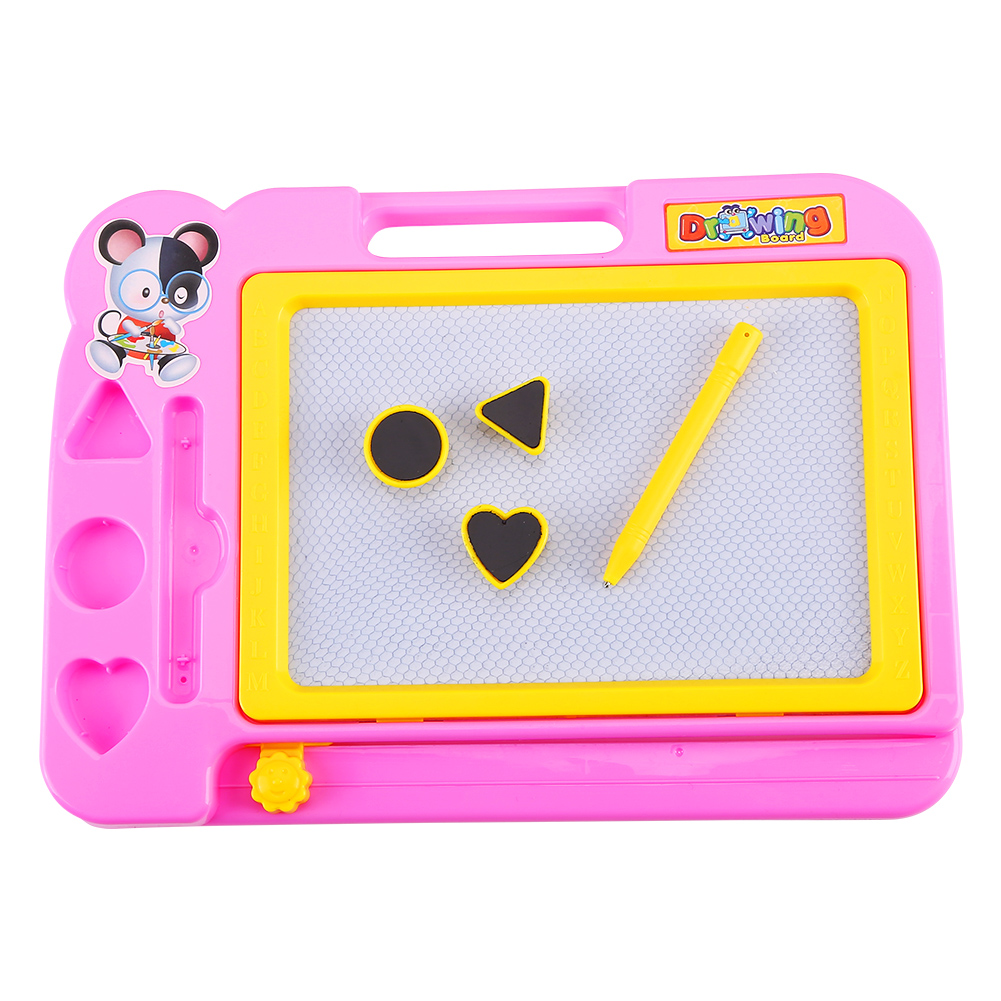 Tbest Kids Children Magnetic Drawing Board with Painting Pen Writing Sketch Educational Preschool Toy, Erasable Drawing Board, Magnetic Drawing Board