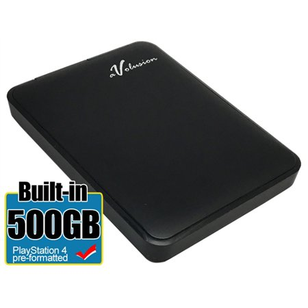 Avolusion 500GB USB 3.0 Portable External PS4 Hard Drive (PS4 Pre-Formatted) HD250U3-Z1 - 2 Year - Dvr 500gb Hard Disk Drive