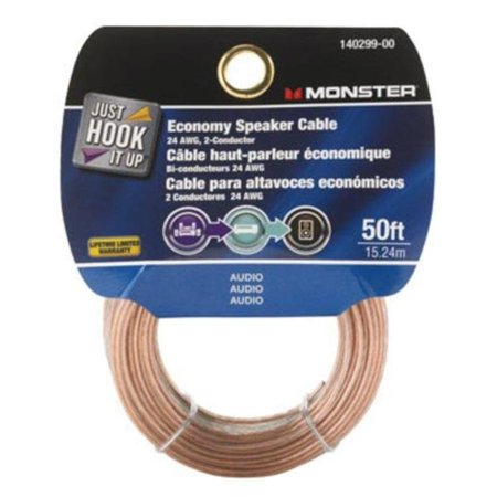 Speaker Wire 50' L Card Monster Cable Audio, Video and Speaker Cables