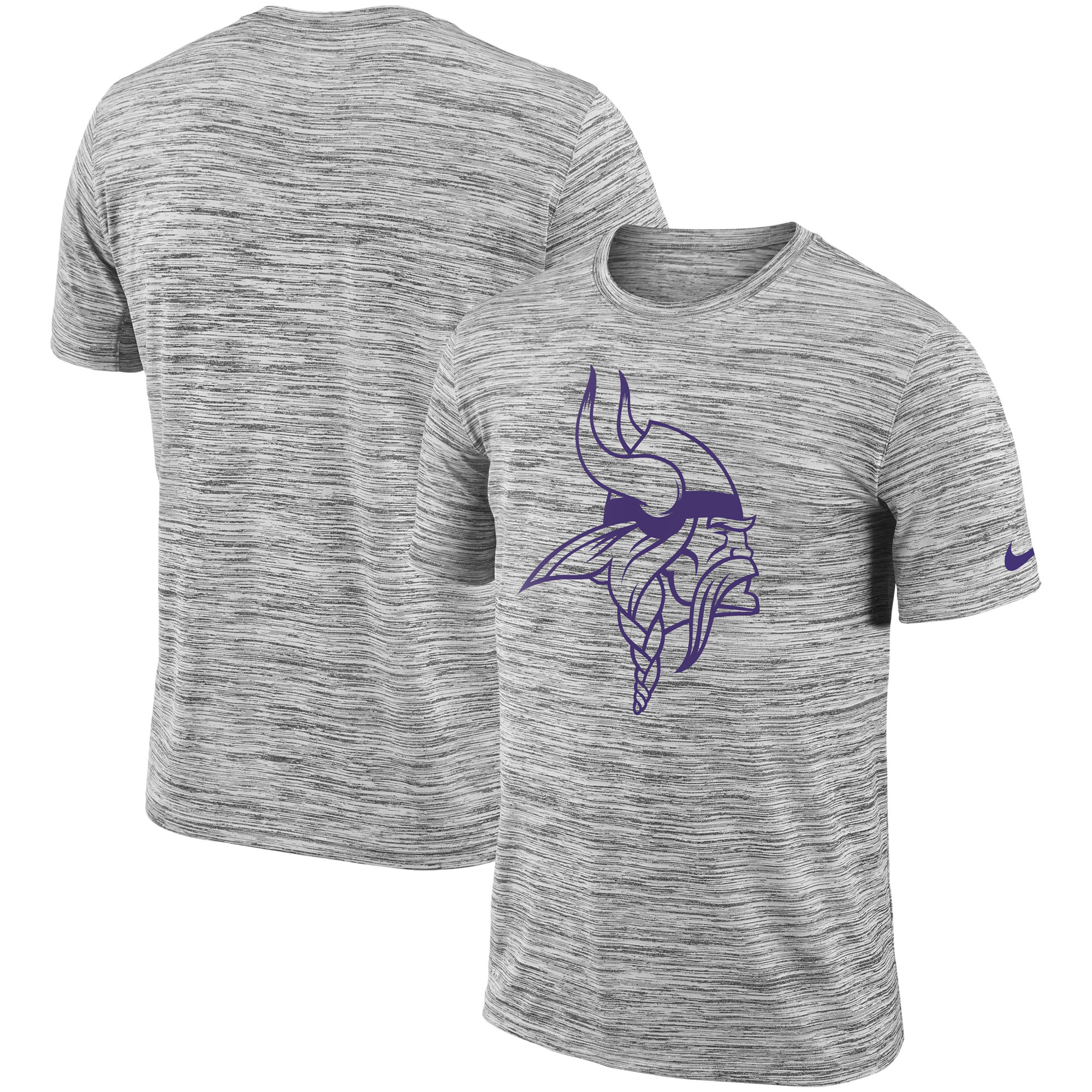 Minnesota Vikings Nike Sideline Legend Velocity Travel Performance T-Shirt - Heathered Black - S