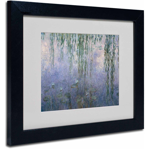 "Trademark Fine Art ""Water Lilies III 1840-1926"" Canvas Art by Claude Monet, Black Frame"