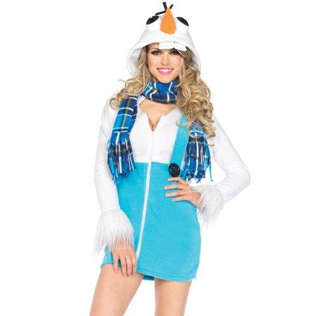 Cozy Snowman zipper front fle - image 1 de 1