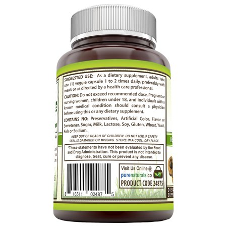 Pure Naturals Maca 950 Mg  120 Veggie Capsules - Made with Organic Maca Root Promotes Immune Function*, Positive Mood and Reduce Fatigue*