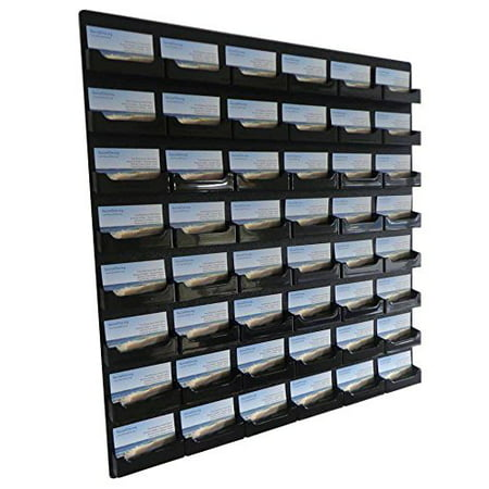 Source one 48 pocket wall mount business card holder rack black source one 48 pocket wall mount business card holder rack black acrylic bc colourmoves