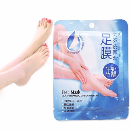 1 Pair Comfort Exfoliating Peel Foot Masks 2Pcs Baby Soft Feet Remove Scrub Callus Hard Dead Skin Bamboo Vinegar Feet Care For Pedicure Sosu