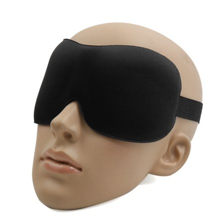 Travel 3D Eye Sleep Mask Padded Shade Cover Rest Relax Sleeping Blindfold Black