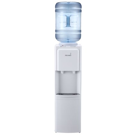 Primo Top Loading Hot/Cold Water Dispenser, White Water Cooler, 3 or 5 Gallon Bottle