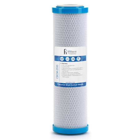 Coconut Shell CTO, Cyst Carbon Block Drinking Water Filter, 2.5 x 10, 0.5 (0.5 Micron Carbon Block)