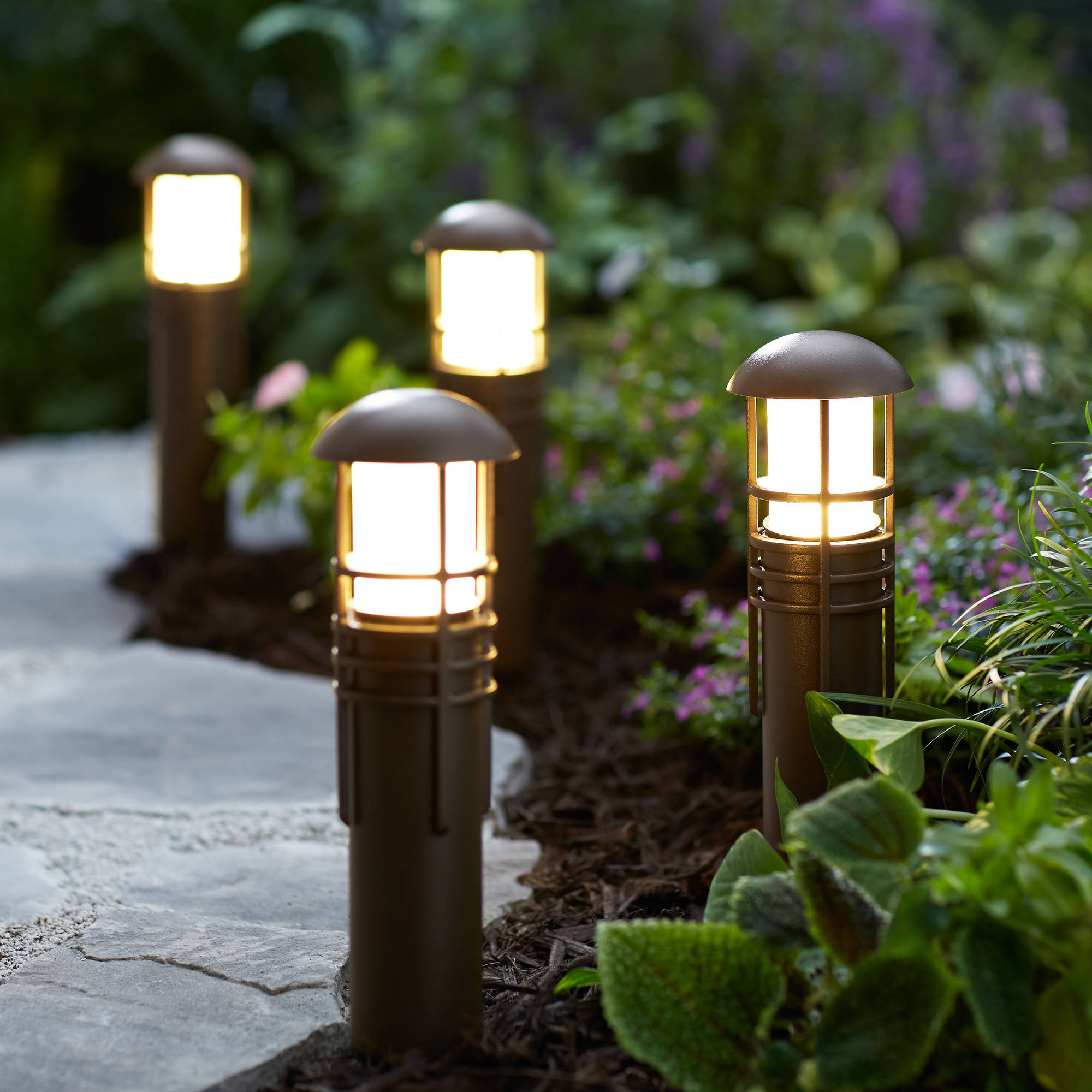 Elegant home depot landscape lighting low voltage - Better homes and gardens solar lights ...
