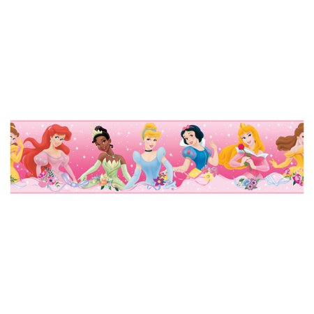RoomMates Disney Princess Dream from the Heart Purple Peel and Stick Border Adhesive Peel Off Borders