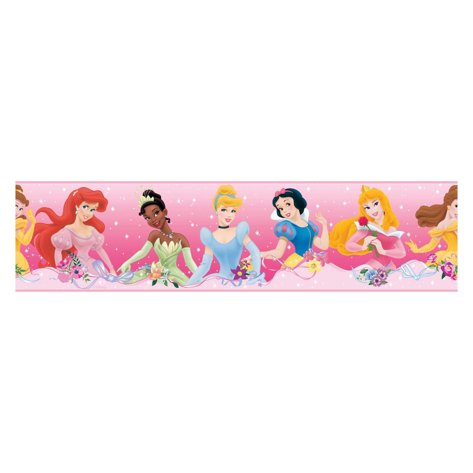 RoomMates Disney Princess Dream from the Heart Purple Peel and Stick Border