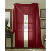 """Qutain Linen Solid Viole Sheer Curtain Window Panel Drapes  55"""" x 84 inch Many Colors"""