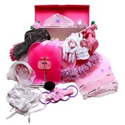 Girls Dress Up Trunk: Princess, Ballerina, Pop Diva, Bride, Fairy costumes for pretend play